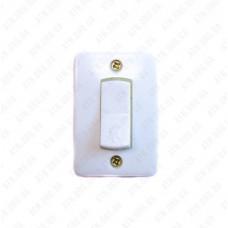 Кнопка звонка (белая) 6А 220В