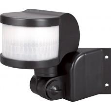 Датчик движения инфракрасный e.sensor.pir.13.black (черный) 270 °, IP44 IP44 E-Next