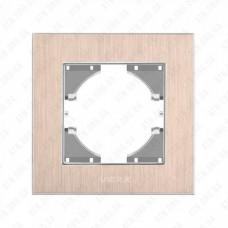 VIDEX BINERA Рамка медный алюминий одинарная горизонтальная
