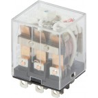 Реле промежуточное с LED-индикацией e.control.p1036L, 10А, 230В AC, на 3 группы контактов (LY3) E.NEXT