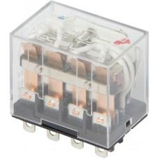 Реле промежуточное с LED-индикацией e.control.p1046L, 10А, 230В AC, на 4 группы контактов (LY4) E.NEXT