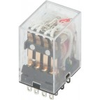 Реле промежуточное e.control.p346L, 3А, 230В AC, на 4 группы контактов (MY4n) с LED-индикацией E.NEXT