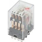 Реле промежуточное с LED-индикацией e.control.p346L, 3А, 230В AC, на 4 группы контактов (MY4) E.NEXT