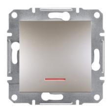 Выключатель ASFORA  1кл. с подсвет. (бронза) Schneider