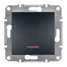 Выключатель ASFORA  1кл. с подсвет. (антрацит) Schneider
