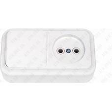 Блок выключ+розетка (с заземл.) В-РЦ-527 BYLECTRICA