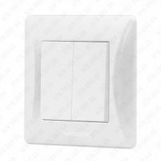 VIDEX BINERA Выключатель белый 2кл