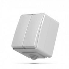 VIDEX BINERA IP65 Выключатель наружный 2кл серый