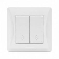 VIDEX BINERA Выключатель белый 2кл проходной